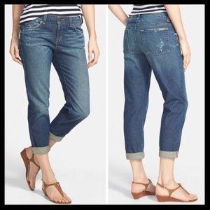 michael kors // boyfriend distressed crop jeans